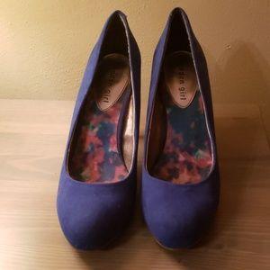Madden Girl Blue Suade Heels
